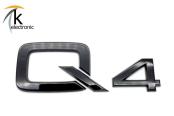 AUDI Q4 e-tron Schriftzug schwarz hinten