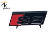 AUDI S8 4N Schriftzug schwarz rote Raute vorne