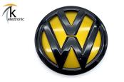 VW Golf 7 5G schwarzes Zeichen hinten kurkumagelb