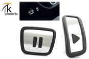 VW ID.3 E11 Play Pause Pedalkappen in Edelstahl/Alu Optik