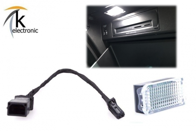 AUDI A1 GB Handschuhfachbeleuchtung Halogen LED Umbaupaket