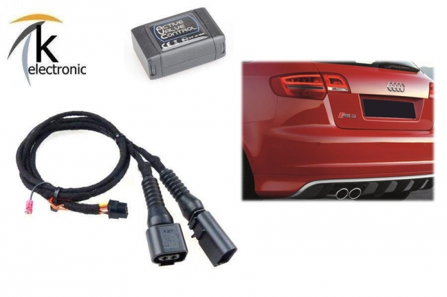 Kofferraum AUDI RS3 8P 8PA Schriftzug schwarz glänzend hinten 11265