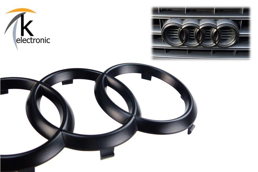 AUDI S4 8W B9 Emblem schwarz glänzend Kühlergrill Front vorne