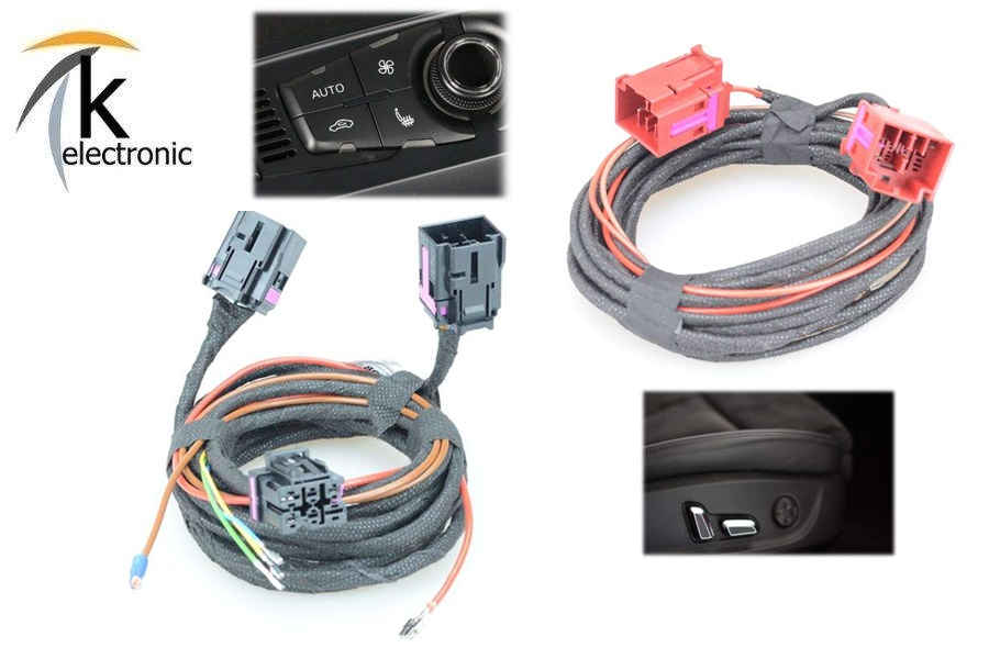Kabelsatz Sitzheizung für Audi A3 8P /& 8P Sport Elektrische Sitzverstellung