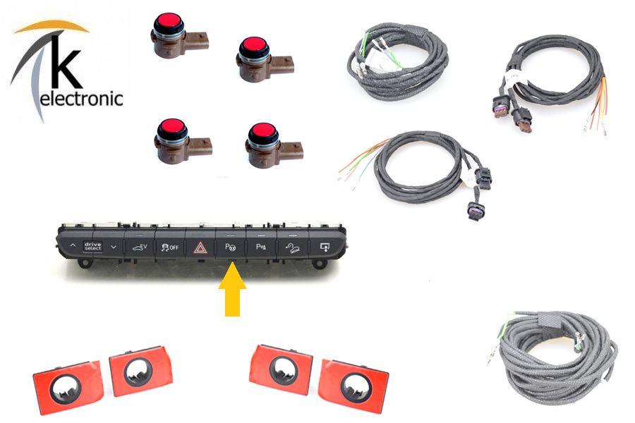 Kabelbaum Kabel PDC Sensor Einparkhilfe Zentralelektrik für Audi TT 2 8J