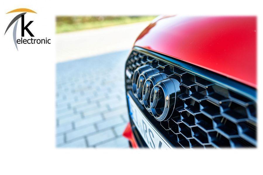 AUDI Q7 SQ7 4M Emblem schwarz glänzend AUDI Ringe Kühlergrill Front vorne