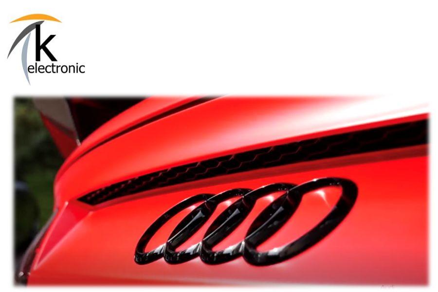 R8 Spider Black Edition Emblem Zeichen Ringe schwarz 4S