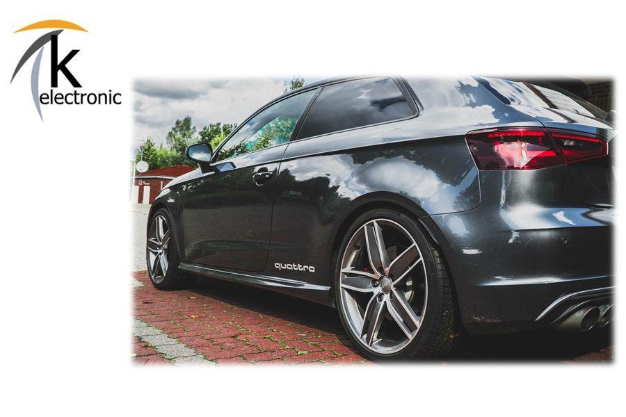 Audi Quattro Schriftzug Silber Dekorfolie Aufkleber 2x