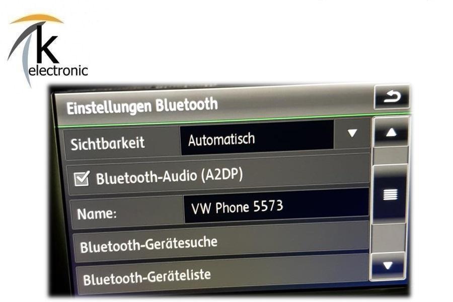 VW Touareg 7P RNS850 Bluetooth Telefon Freisprecheinrichtung freischalten ...