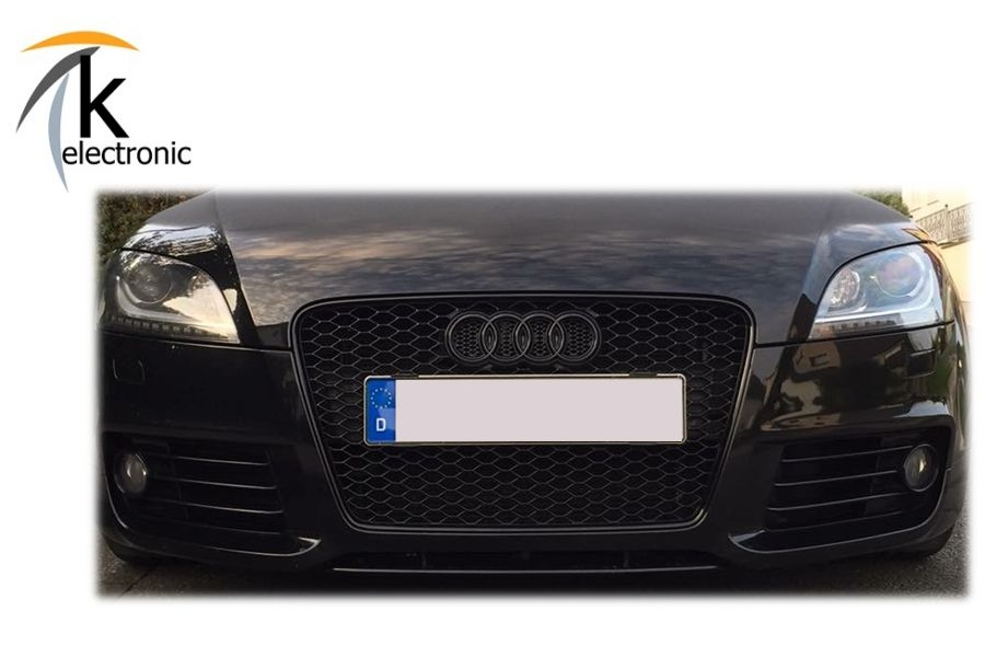 k electronic audi tt tts ttrs 8j emblem schwarz. Black Bedroom Furniture Sets. Home Design Ideas