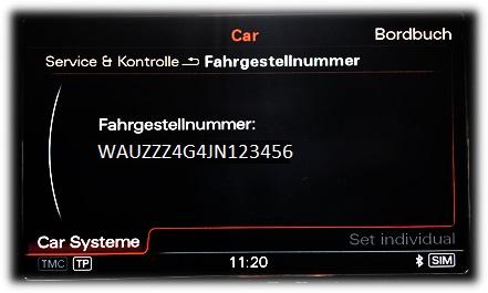 Fahrgestellnummer - Beispiel